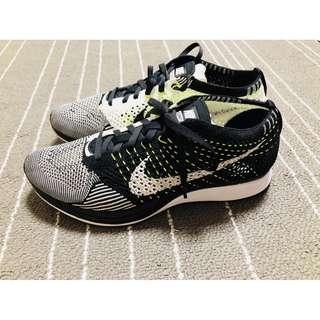 Nike Flyknit Racer 陰陽 黑白 螢光
