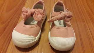 14.5cm Pink Canvas Shoes