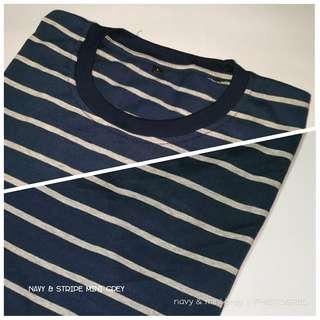 Kaos stripe nyaman tidak panas. Unisex