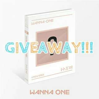 (GIVEAWAY) WANNA ONE UNDIVIDED ALBUM