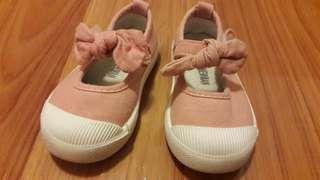 15cm Pink Canvas Shoes