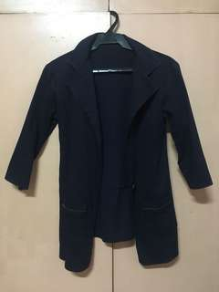 Navy Blue Casual Coat