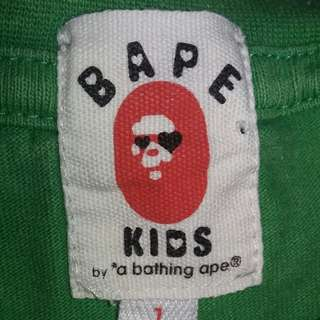 Bathing Ape made in japan for kids