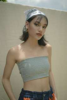 Checkered Tube Top