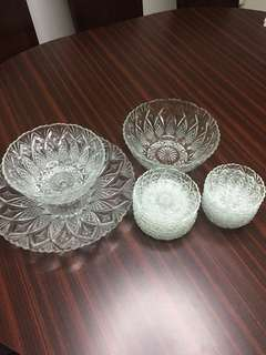 French crystal glass ware