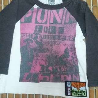 Tshirt 3q punk for baby