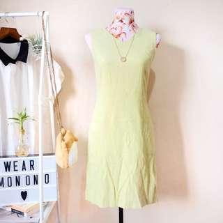 Faux Suede Light Green Dress