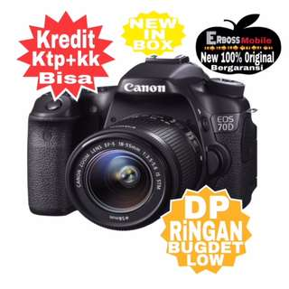 Canon EOS 70D Kit 18-55MM Wifi Resmi-Kredit Dp call/wa;081905288895