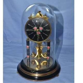 ANTIQUE VINTAGE SIGFRIED HALLER GERMANY MECHANICAL PENDULUM ANNIVERSARY CLOCK