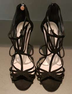 Strappy Black Heels (Fixed Price)