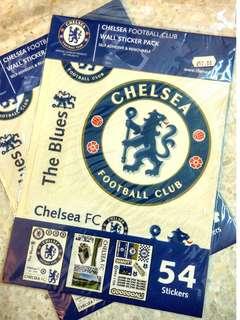 Chelsea FC Wall Sticker Pack Self Adhesive Original