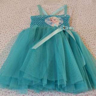 Tutu Gown 1 to 3 years old - Elsa!❤