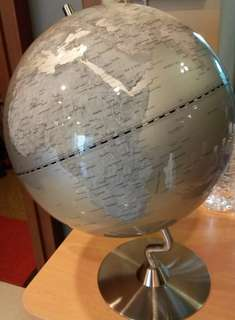Stylish Silver Colour Globe (For office or students)