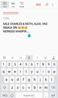 Jual Murah Charles & Keith, Aldo, VNC ORI