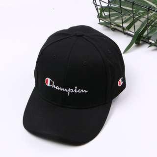 New Champion Cap Hat Black 太陽 防曬 鴨舌帽 黑色