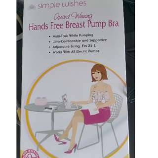 Brand New Simple wishes hands free pumping bra
