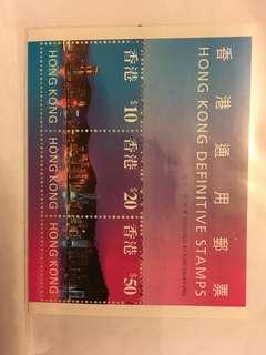香港通用郵票小連張