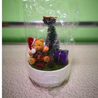 Miniature Christmas Bear Tree (2 Quantity)