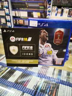 P4 fifa 18 +fifa icons new and sealed free postage 0124140307 WhatsApp now got discount 6 %until 7th June 2018
