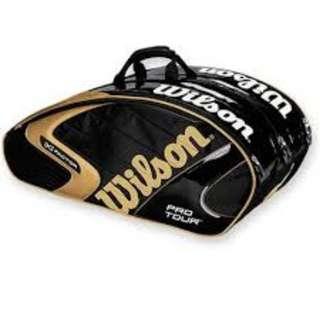 Tennis Racket Bag 2016 Limited Edition (K) Factor Pro Tour 6 Black Gold Original Tas Tenis Ransel Raket Tenis Wilson