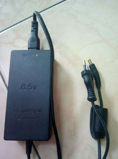 Sony PS2 AC adapter & AV cable.