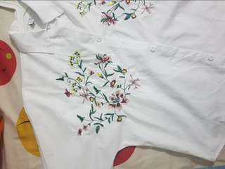 Ulzzang Floral Embroided Blouse