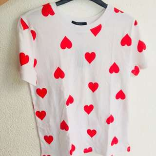 Forever21 Hearts Graphic Tee