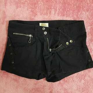 Black Double Buttoned Diesel Shorts