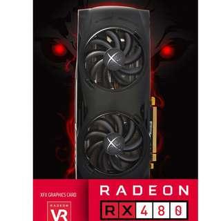 絕版 XFX AMD RX480 8GB 勝 RX580