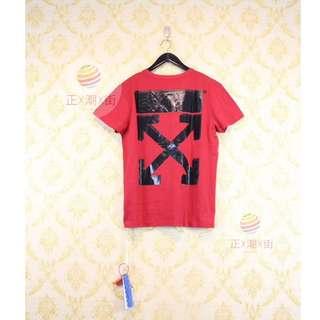 🔥全店9折🔥  👕Off White X Champion 刺繡LOGO TEE(紅色)👕