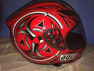 AGV Toxic Red Helmet
