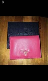 Prada Wallet 桃紅銀包Prada