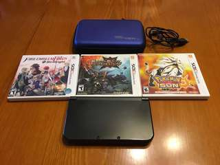 preloved new nintendo 3ds xl with 3 games