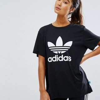 Woman's Adidas t.shirt black and white