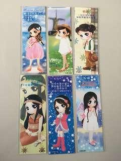 Pretty dolls bookmarks - 6pcs #nogstday