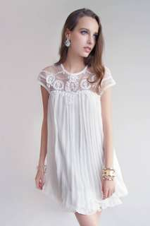 White Beaded Dress Size S