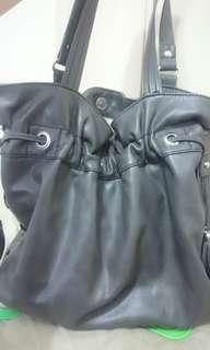Authentic Nine West Gray Bucket Bag Shoulder Bag