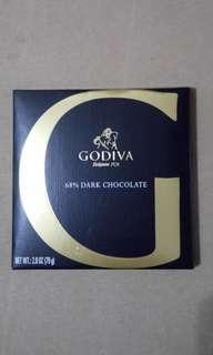 【全新*平售】比利時製 GODIVA 68% Dark Chocolate 2.8oz (79g) 黑朱古力 巧克力
