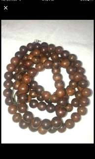 {FS138} 12mm Big Size 108 Bead Of Vietnamese Agarwood Necklace