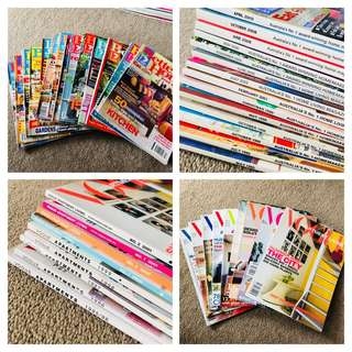 """Better Homes and Gardens"" & ""Vogue Apartment Living"" Magazines"