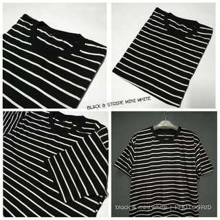Kaos stripe unisex enaks nyaman dipakai.