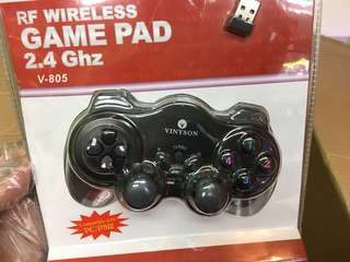 Usb 無線遊戲機手掣//2.4 RF wireless Game Pad