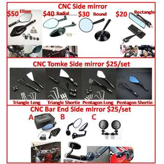motorcycle mirror motor bike e ebike sidemirror side tomoke cnc motorcycle mirror motor bike e ebike sidemirror side tomok tomok shotie bar end mirror square elise radial mirror adaptor