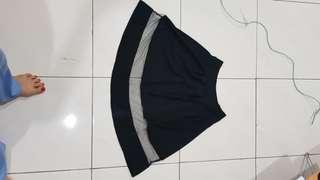 Organza black skirt