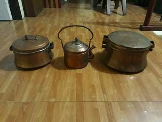 Old Copper Cookwares