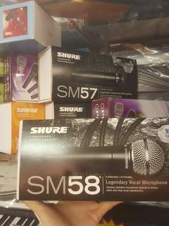 new with warranty shure sm58 microphone  人聲咪 咪