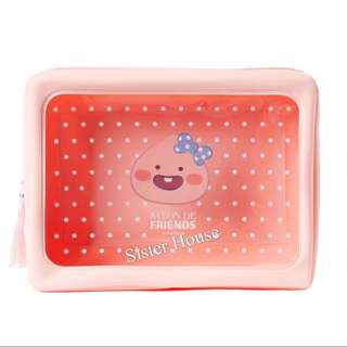 🇰🇷Kakao Friends Salon de Clear Pouch - Apeach 萬用袋
