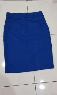 Bodycon skirt royal blue