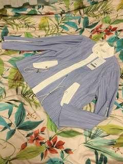 (New) initial mix stripe sky blue tone jacket ⛅️