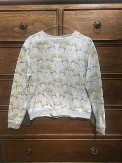 Pull and bear unicorn sweatshirt
